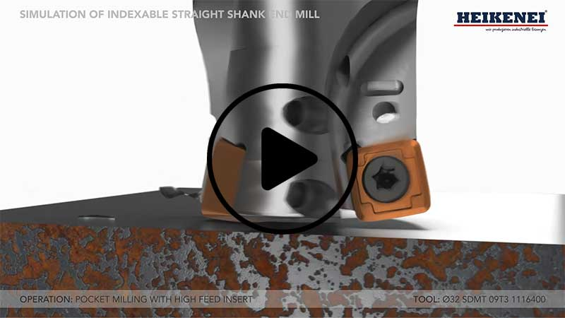 Indexable Straight Shank End Mill