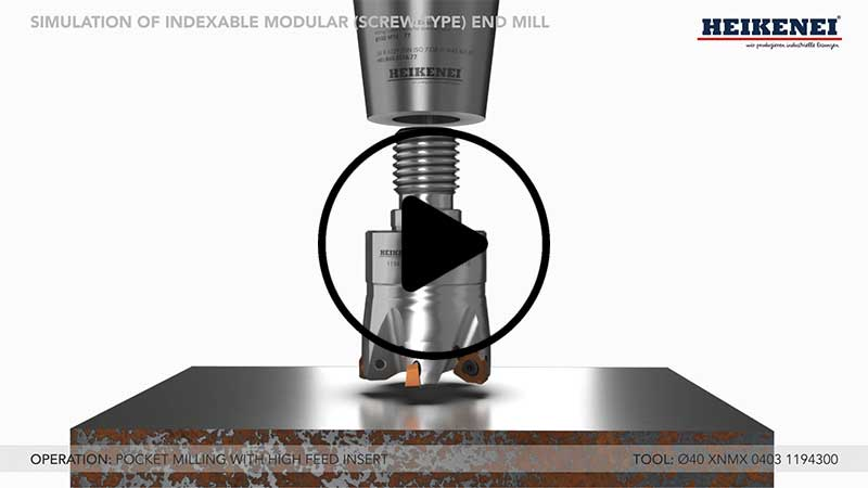 Indexable Modular (Screw) Type End Mill